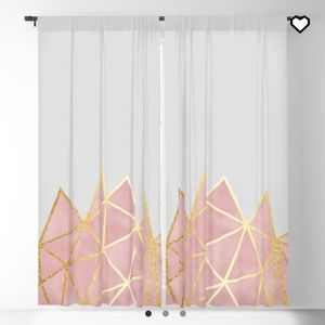 Grey, pink, and gold curtains (2)